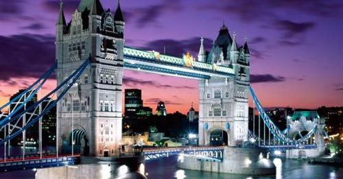 London Evening-Tower Bridge-England