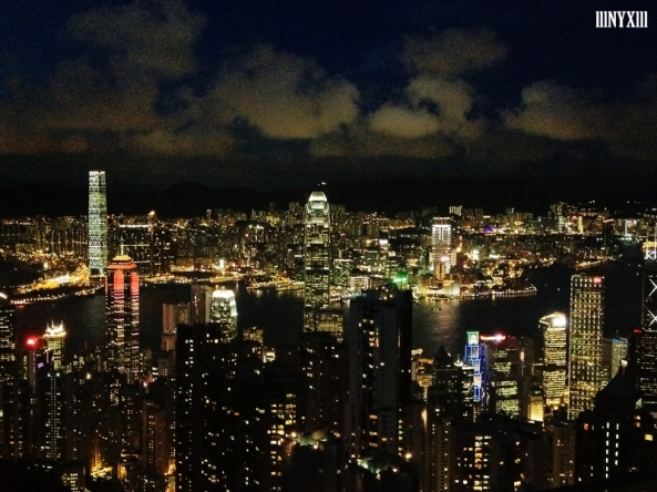 The breath-taking night view of HK from the Victoria Peak