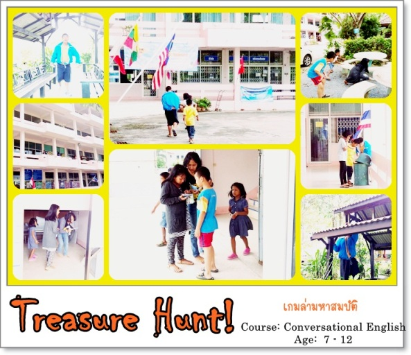 Follow all the hints given and discover the treasure! Learning how to tell directions while having fun ^^ This is PLCS students all-time favorite activity.